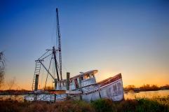 damaged boat lafitte