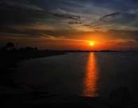 sunset dark