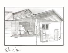 gas station print